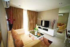 Pattaya Sunny Rentals - The View Apartments European Kitchens, Vacation Apartments, 1 Bedroom Apartment, Pattaya, Balcony, Separate, Flat Screen, Living Room, Home Decor