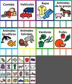 Imprimibles e Ideas! Autism Teaching, Autism Activities, Speech Therapy Activities, Montessori Activities, Kindergarten Activities, Speech Language Therapy, Speech And Language, Elementary Spanish, Elementary Schools