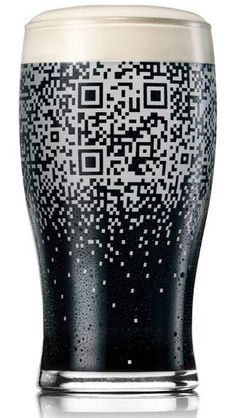 Guinness has teamed with BBDO New York, a creative advertising firm, to create a new kind of beer glass. The glass is similar to others but features a unique design that can only be seen when it is full. This pattern eventually coalesces into a fully-functional QR code that can be scanned with a smart phone or other mobile device. Dubbed the Guinness QR Cup, the code used in the glass can only be scanned if it is filled with Guinness beer.