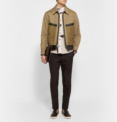 Coach - Panelled Twill and Leather Jacket