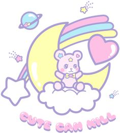 Cute Can Kill bear design <3