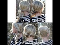 excellent tutorial on 5 hairstyles that involve twisting over/under a hair tie.  love them!!