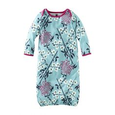 Branch and blossom print. The softest cotton jersey. Sweet serenity. #TeaWelcomeBaby