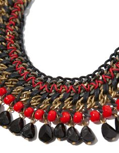 NECKLACE OF CHAINS AND ROPE WITH COLOURED STONES - Accessories - Accessories - Woman - ZARA United States