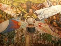 Diego Rivera Rockefeller Mural | Diego painted this for Rockefeller Center in New York City, but ...