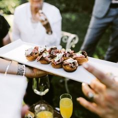 Yorkshire pudding with eye fillet & bearnaise sauce - photo by Yorkshire Pudding Canapes, Bearnaise Sauce, Sunday Roast, Roast Beef, Catering, Food, Events, Wedding Ideas, Eye