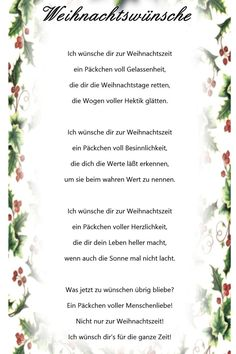 Christmas wishes – advent calendar ideas - Weihnachten Christmas Poems, Christmas Night, Christmas And New Year, Christmas Cookies, Christmas Wreaths, Merry Christmas, Christmas Decorations, Xmax, Diy Crafts To Do