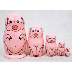 Pig Nesting Dolls