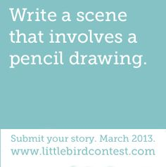 Write a scene about drawing.