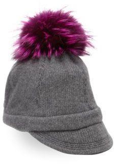 1f7c02f43f9 Portolano Fox Fur Pom-Pom  amp  Cashmere Cap  http   shopstyle