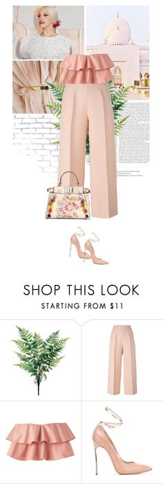 """soft.pink."" by eve-angermayer on Polyvore featuring WALL, GET LOST, Fendi and Casadei"