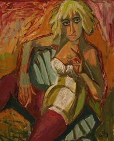 Otto Dix, Portrait of Eleonor Frey, 1936 by kraftgenie, via Flickr