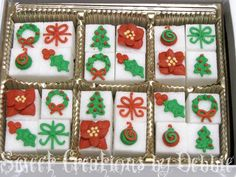In a couple of weeks, I'm going to have a table at a Christmas boutique that my husband's work holds every year. I'm a little nervous becau. Christmas Tea Party, Christmas Goodies, Christmas Wishes, Christmas Baking, Christmas Recipes, Christmas Ideas, Xmas, No Bake Chocolate Cake, Royal Icing Sugar