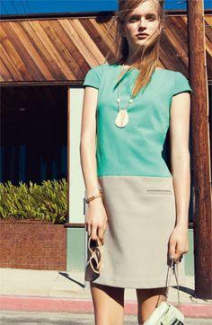Eliza J Colorblocked Shift Dress