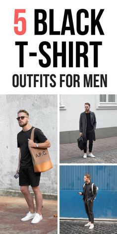 04635ba019876 14 Best Black Tshirt Outfit images