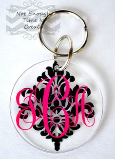 Acrylic Monogram Keychains by NotEnoughTime2Create on Etsy