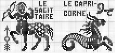 Zodiac 06 | Free chart for cross-stitch, filet crochet | Chart for pattern - Gráfico
