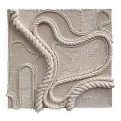 Texture Art, Texture Painting, Textured Canvas Art, Plaster Art, Rope Art, China Art, Mid Century Art, My New Room, Canvas Artwork
