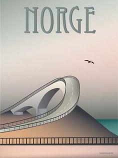 NORGE Atlanterhavsvejen - plakat