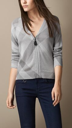 Check Wool Cashmere Cardigan | Burberry