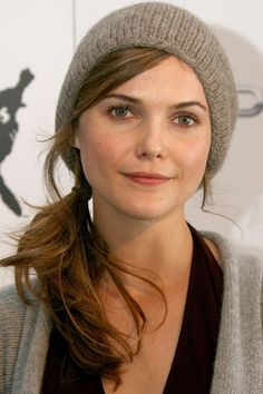 Keri Russell, Sexy Side Ponytails - (Page Medium Hair Cuts, Medium Hair Styles, Keri Russell Style, Keri Russell Hair, Hair Dos, My Hair, Side Ponytails, Round Face Haircuts, Ponytail Hairstyles