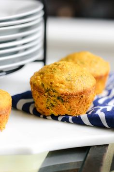 Savory Clean Jalapeno Cornbread Muffins (with Kale!) are 100% Whole Grain + Dairy Free