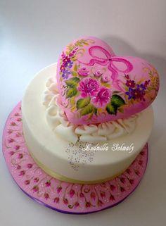 romantic heart Cake - Cake by Milla Schmalz