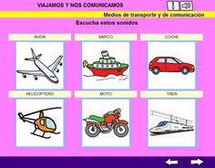 ACTIVIDADES LIM - Los medios de transporte.    En este libro interactivo se pretenden trabajar los contenidos referidos a los medios de transporte y de la comunicación establecidos para 1º de E.P.    Para visualizarlos, es necesario instalar el entorno LIM:  http://www.educalim.com/cinicio.htm    En el caso de no tenerlo instalado, descomprimid los archivos a una carpeta y pulsad sobre el archivo html viajamos_y_nos_comunicamos    http://arasaac.org/materiales.php?id_material=713