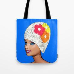 Tote Bag by plasticpam Cool Pops, Paper Bags, Poplin Fabric, Beach Towel, Reuse, Cool Stuff, Stuff To Buy, Pop Art, Stress