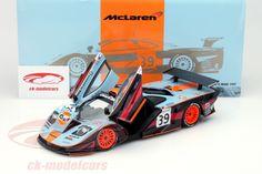 McLaren F1 GTR, 24h Le Mans 1997, No.39, Ray Bellm / Andrew Gilbert-Scott / Masanori Sekiya, Gulf Team Davidoff. Minichamps, 1/18, Limited Edition 1500 pcs. Price (2016): 70 EUR.