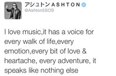 Beautiful tweet :) he's completely right...music is a language that speaks when words can't  - Little Me