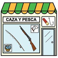 Pictogramas ARASAAC - Tienda de caza y pesca.