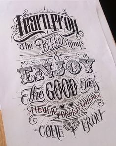 Design resource for typography and lettering lovers. Chicano Lettering, Tattoo Lettering Fonts, Hand Drawn Lettering, Creative Lettering, Types Of Lettering, Vintage Typography, Typography Quotes, Typography Inspiration, Lettering Design
