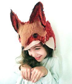 Fox hand felted Winter  Hat. $55.00, via Etsy.