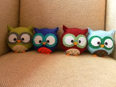 completed 4 more owls for the primary school order :) 9 more left to do! http://www.etsy.com/shop/HollyGoBrightly?ref=pr_shop_more
