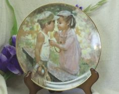 """Check out Vintage Fine Porcelain 1984 Collectors Plate, """"Playtime"""", My Memories, by Mary Vickers, Made in England, by Wedgwood, #VB7105 on ckdesignsforyou"""