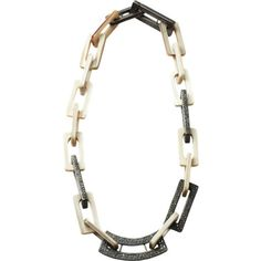 Maiyet Horn, Silver & Diamond Short Chain Link Necklace
