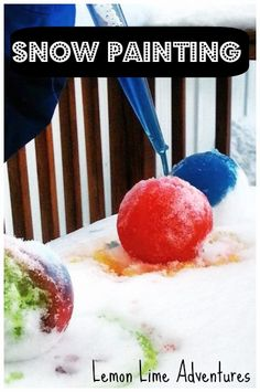 Looking for a way to add color to a snowy day? Try snow painting! This easy activity works on color mixing, fine motor skills, and imagination! Outside Activities For Kids, Preschool Art Activities, Winter Activities, Motor Activities, Winter Crafts For Kids, Winter Fun, Winter Ideas, Painting Snow, Painting For Kids