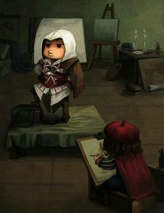 Ezio and Leonardo>>thought this was cute for some reason☺️