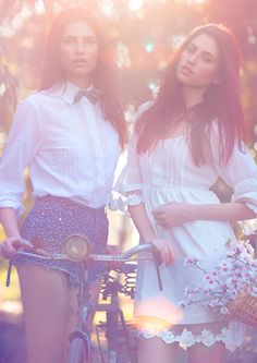 "Romantic+Boho  ""The Twins,"" by José Ferreira on @Behance #romantic #fashion #photography"