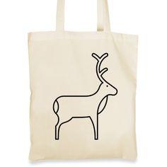 Plátěná taška pro všechny milovníky jelenů