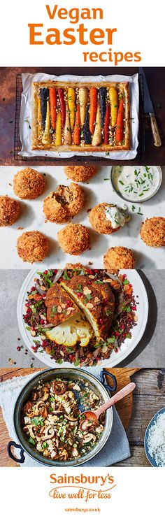 Looking for vegan recipes this Easter? We've got 36 vegan recipes for you to try including spices whole roasted cauliflower, nut roast en croute, vegan cottage pie, vegan vegetable tart, vegan risotto balls and vegan espresso martini chocolate mousse. Treat friends and family to these vegan delights.