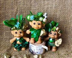 Excited to share this item from my shop: Living Succulent Lucky Leprechaun Trolls Jade Succulent, Succulent Gifts, Cool Succulents, Succulents In Containers, Reduce Reuse Recycle, Upcycle, Troll Dolls, Succulent Arrangements, Something Old