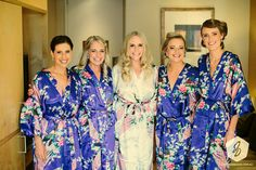 Items similar to CD1 Deep Blue Kimono Bath Robes Silk Shower Robes For Bride  and Bridesmaid Ready Wedding Party Gifts 7b6df0f4f