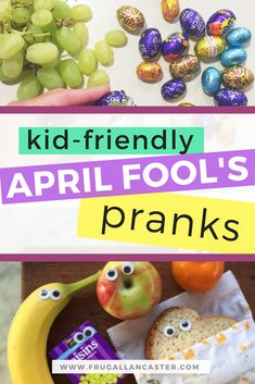 If you want to trick your child in a fun and loving way this April Fools Day, you won't want to miss this list of kid-friendly April Fool's Pranks | family tricks idea | funny | life | googly eyes | toddlers | preschoolers l #healthykids