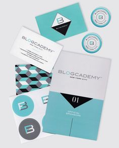Blogcademy collateral | Designer: Shauna Haider (Nubby Twiglet). Love the color and the retro font.