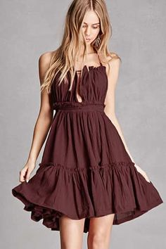 Scoop Back Raw-Cut Halter Dress