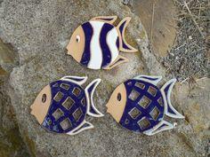 Keramické rybičky keramická rybička, prořezávaná, malovaná glazurami velikost cca 13,5x17