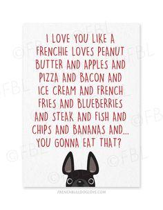 I Love You Like... a French Bulldog - Card