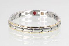 Magnetschmuck 5-Elemente Armband bicolor